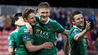 Here it is: Cork City's Kieran Sadlier scores 100-yard goal from inside his own box