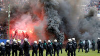 European wrap: Hamburg's first-ever relegation sparks fiery fan demonstrations