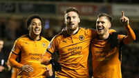 Championship wrap: Ireland defender's brace helps Wolves maintain three-point lead
