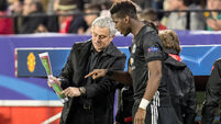 Paul Pogba absent from Man United training ahead of Champions League clash