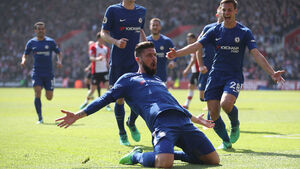 Olivier Giroud sparks Chelsea fight back at relegation-threatened Southampton