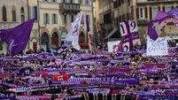 Emotional scenes as thousands gather to bid farewell to 'grande capitano' Davide Astori