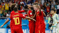 Last minute goal helps Belgium squeeze past Japan into quarter-finals
