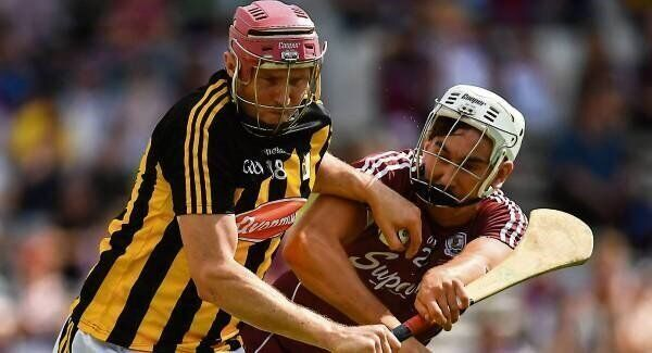 Kilkenny's Robert Lennon looks to get past Galway's Jason Flynn in their Leinster SHC final replay at Semple Stadium yesterday. Picture: Brendan Moran/Sportsfile