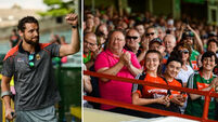 Emotional moment as injured Tom Parsons receives standing ovation from Mayo fans