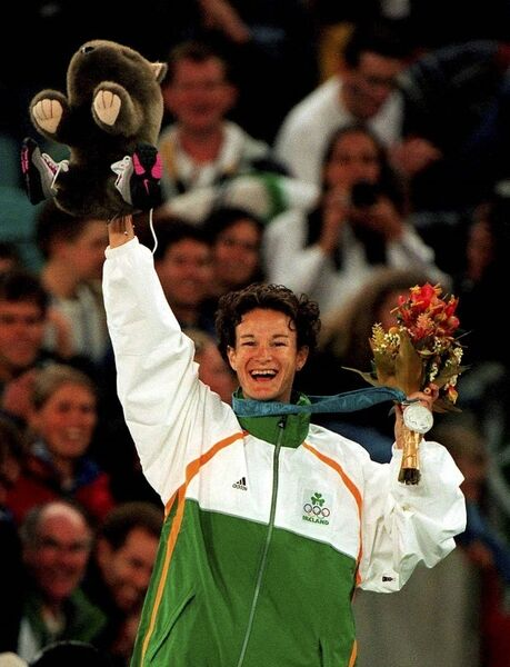 Sonia O'Sullivan after she won silver at the Sydney Olympics on September 25, 2000. Picture:Brendan Moran/Sportsfile