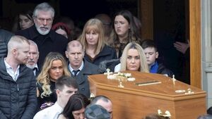 Gerry Adams among mourners at brother's funeral in Co Donegal