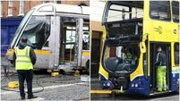 Eight injured after bus collides with Luas