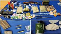 Two arrested after gardaí seize drugs, replica guns and ammo in west Dublin