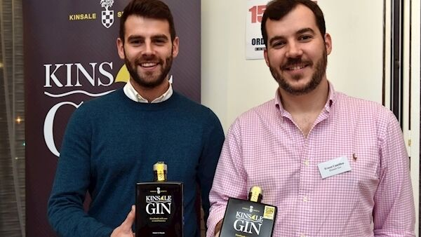 Colin Ryan of Richmond marketing and Ernest Cantillion from Kinsale gin at the 16th Cork Wine & Craft Beer fair.
