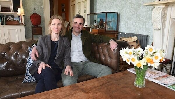 Justin and Jenny Green are in business with their friend Antony Jackson producing Bertha's Revenge Gin. The couple are pictured at Ballyvolane House, Castlelyons