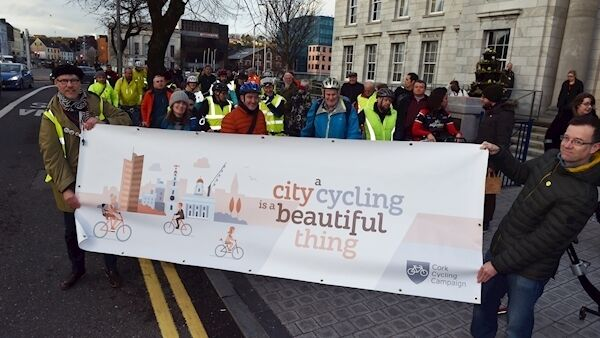 The Cork Cycling Campaign wants more protective barriers for cycle lanes. Picture: Eddie O'Hare