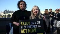 Derry Girls stars help deliver abortion petition to NI Secretary