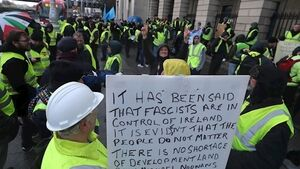 Yellow vest demo in Dublin shows solidarity for French protestors