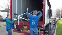 Bikes recycled from Garda station to Gambia
