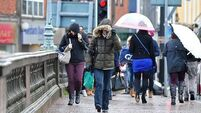 Status Yellow rainfall warning in place for two counties