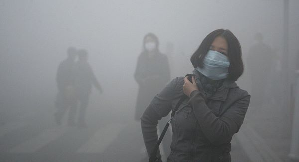 File image of the smog in China.