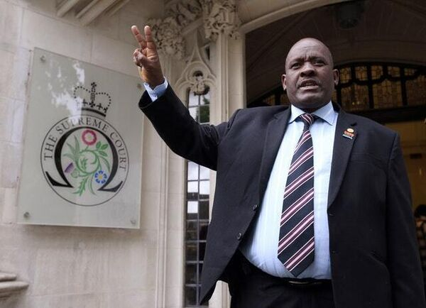 Louis Olivier Bancoult, leader of the Chagos Refugee Group at court in London in 2015 (PA)