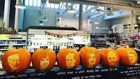 Fallon & Byrne have turned this year's Presidential candidates into pumpkins