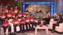 WATCH: Thai soccer team rescued from cave give first TV interview on Ellen