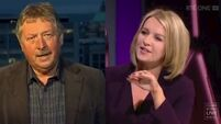 WATCH: Claire Byrne and Sammy Wilson in dispute over Leo Varadkar's 'threats'