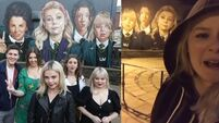 WATCH: Nicola Coughlan reacts to seeing the Derry Girls mural for the first time