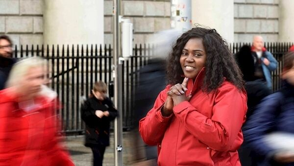 Ellie Kisyombe is nearly a decade in Direct Provision and is running in May's local elections for the Social Democrats. Picture: Moya Nolan