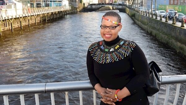 Nqobizitha Vella has been living with her son in Direct Provision in Cork for three years. She spent all of 2018 writing a book and uploading chapters to Facebook as a way to cope. Picture: Denis Minihane