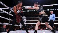 Katie Taylor defends world titles with dominant win over Serrano