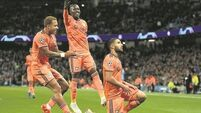 More European misery for Manchester City as Lyon shock Blues