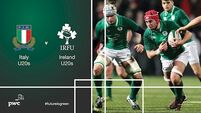 Here's the only way you can watch Ireland's U20s play in Italy tonight