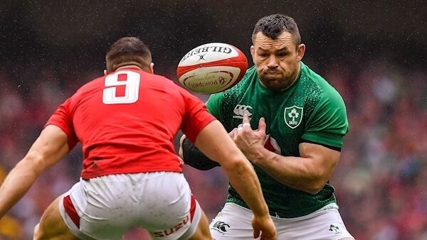 Cian Healy of Ireland in action against Gareth Davies of Wales at the Principality Stadium. Photo by Brendan Moran/Sportsfile