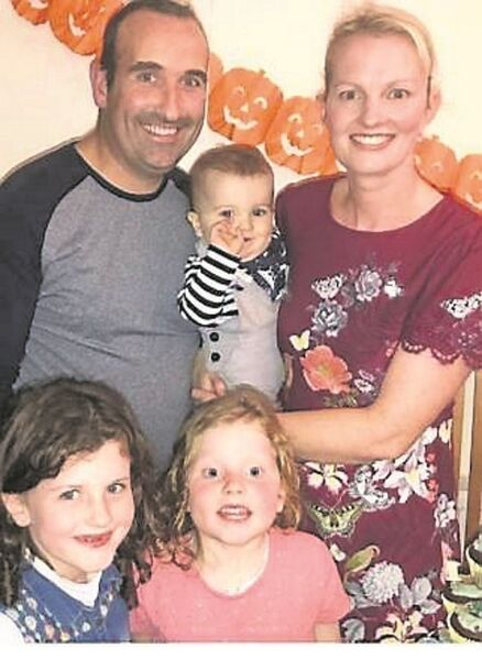 Kieran O'Connor with his family