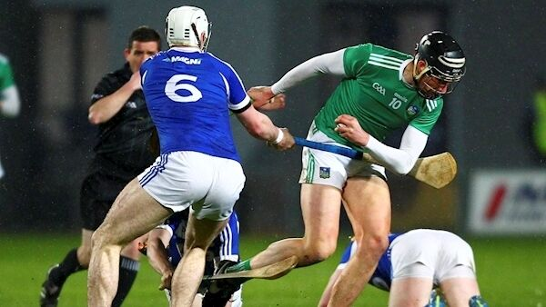 Laois vs Limerick Limerick's Gearoid Hegarty goes by Ryan Mullaney of Laois. Photo: ©INPHO/Ken Sutton