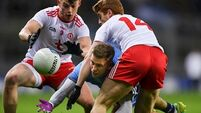 14-man Tyrone inflict third league defeat on Dublin
