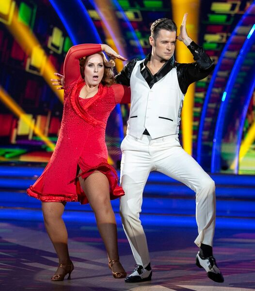 Clelia Murphy and Vitali Kozmin dance a salsa to 'Night Fever'. The 'Fair City' star is fast becoming a favourite of the judges.