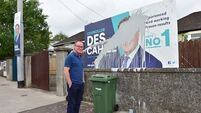 Ex-Mayor of Cork slams 'cowards' who have 'crossed a line' by defacing election poster outside his home
