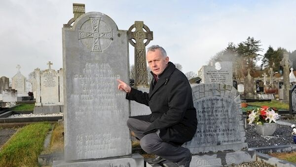 Tim Crowley pictured in 2015 at St. Mary's cemetery on the 50th anniversary of the deaths of Michael Collins' brother Sean Collins and his great friend Jim Hurley, a member of the anti-treaty ambush party at Béal na mBláth. Photo: Dan Linehan.