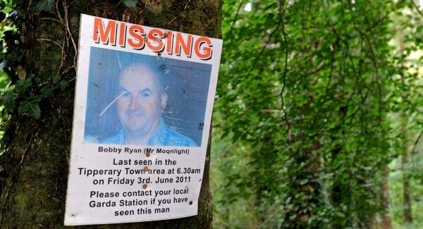A poster circulated when Bobby Ryan went missing