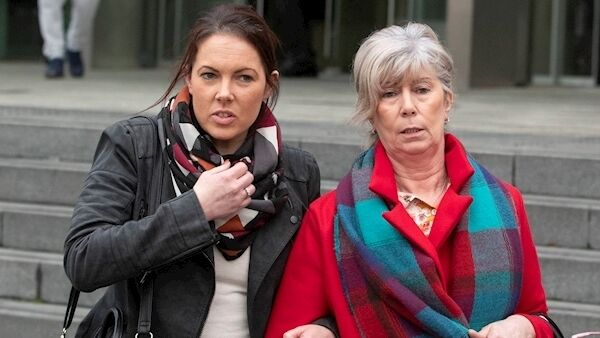 Michelle Ryan and Mary Ryan, daughter and ex-wife of Bobby Ryan, leaving court in February. Photo: Collins Courts.