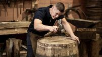 Rolling out the barrel: O'Mahony first cooper in 40 years at Midleton Distillery
