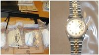 Three men arrested after drugs worth €210,000, cars and a luxury watch seized in Dublin