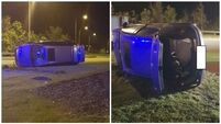 Motorist flips car after caught speeding at 133km/h