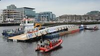 Viewing points set up to watch Cork's newest bridge being put in place