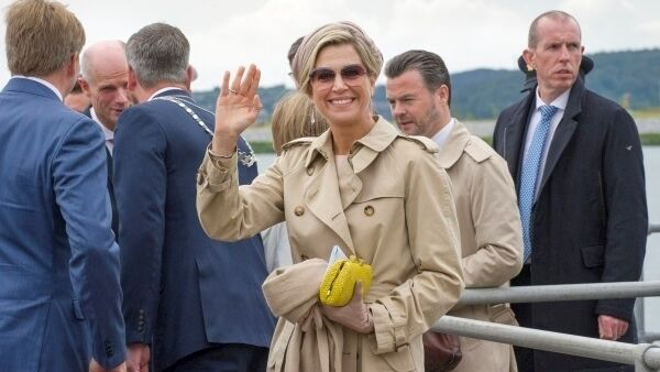 Queen Máxima pictured at Cobh pier. Picture: Daragh Mc Sweeney/Provision