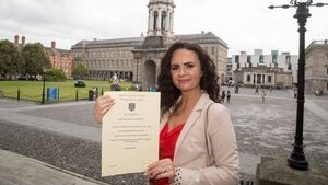 'I got a second chance at life': Breast cancer survivor who left school at 17 graduates from Trinity