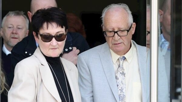 Geraldine and Patrick Kriegel leaving the court today. Picture: Sam Boal/RollingNews.ie