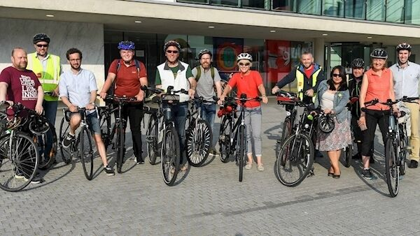 Members of Cork Cycling Campaign with local councillors