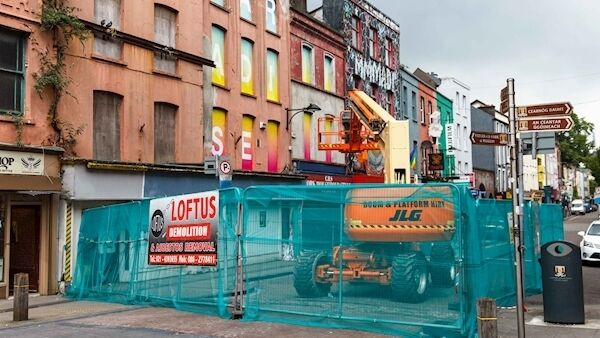Buildings to be Demolished on North Main Street, Cork City. Credit: Damian Coleman. Cork, Ireland, 25th June, 2019. Credit: Damian Coleman.