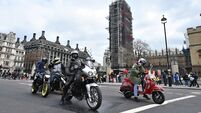 Bikers protest over plans to prosecute British soldier over Bloody Sunday